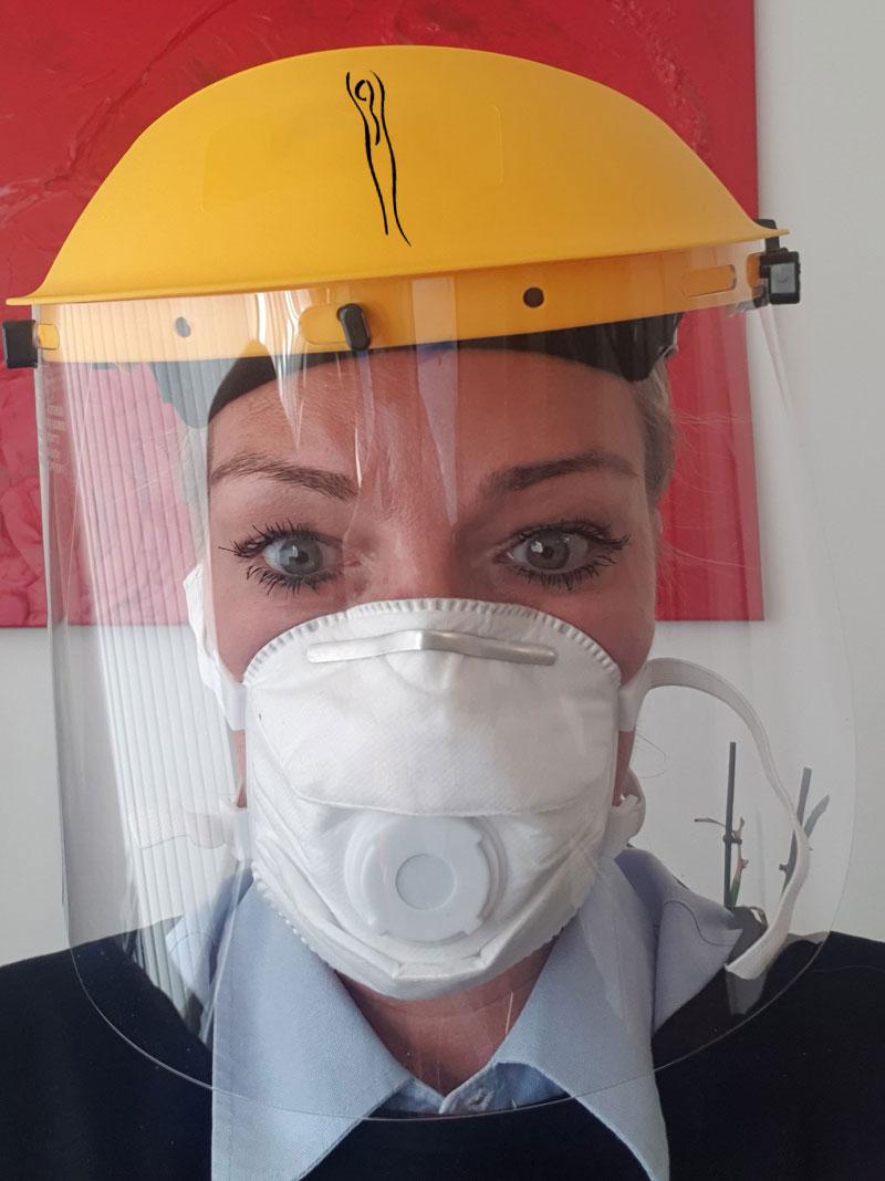 frauenarzt-corona-Frauenarztpraxis München Mundschutz zur Behandlung